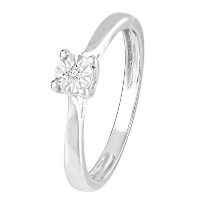 zilveren send ring met diamant 3 - Moederdag tip: Lucardi