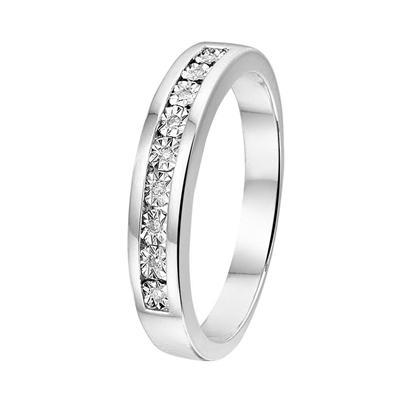 zilveren send ring met diamant 4 - Moederdag tip: Lucardi