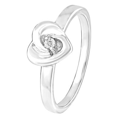 zilveren send ring met diamant - Moederdag tip: Lucardi
