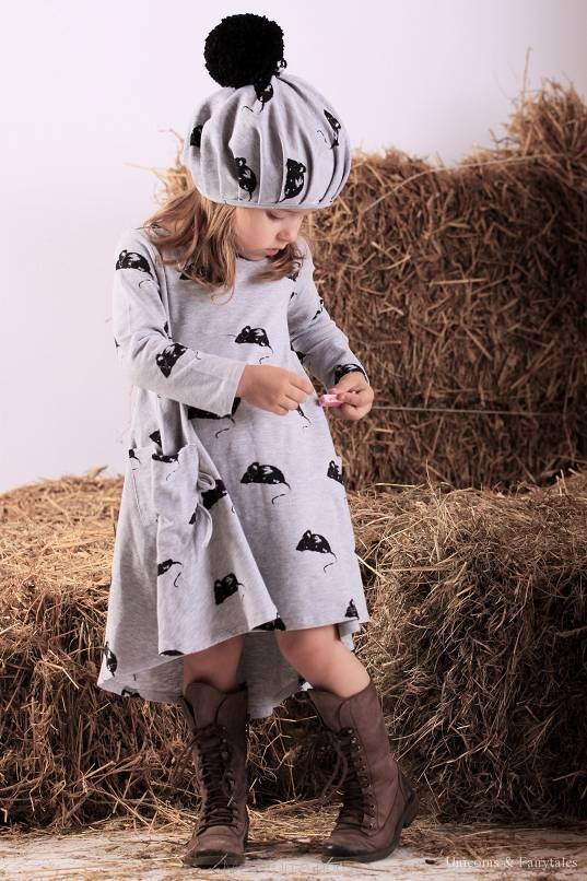 mouse in a house mouse dress grey - Webshoptip    Bambini Amore (+WIN)