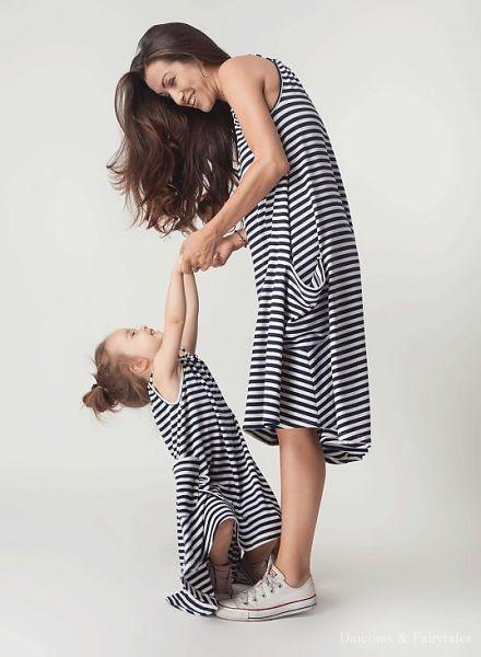 mouse in a house summer striped dress mom laatste - Webshoptip    Bambini Amore (+WIN)