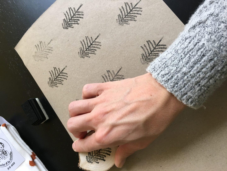 IMG 2677 - DIY | Zelf kerstkaarten en inpakpapier maken