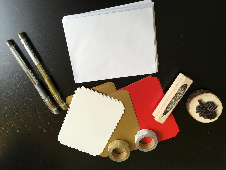 IMG 2683 - DIY | Zelf kerstkaarten en inpakpapier maken