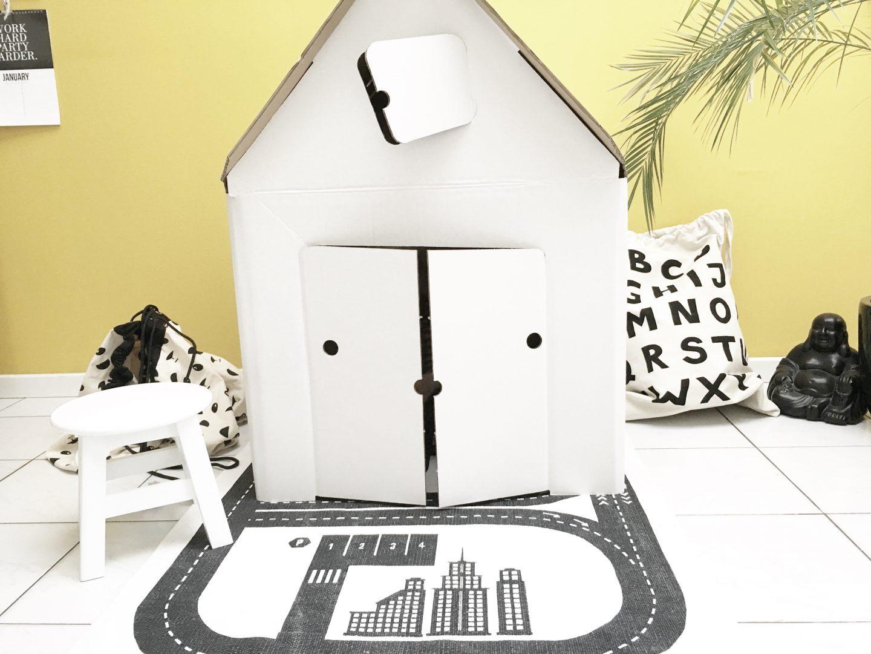 FullSizeRender 340 - Hide and seek with Casa Cabana cardboard house