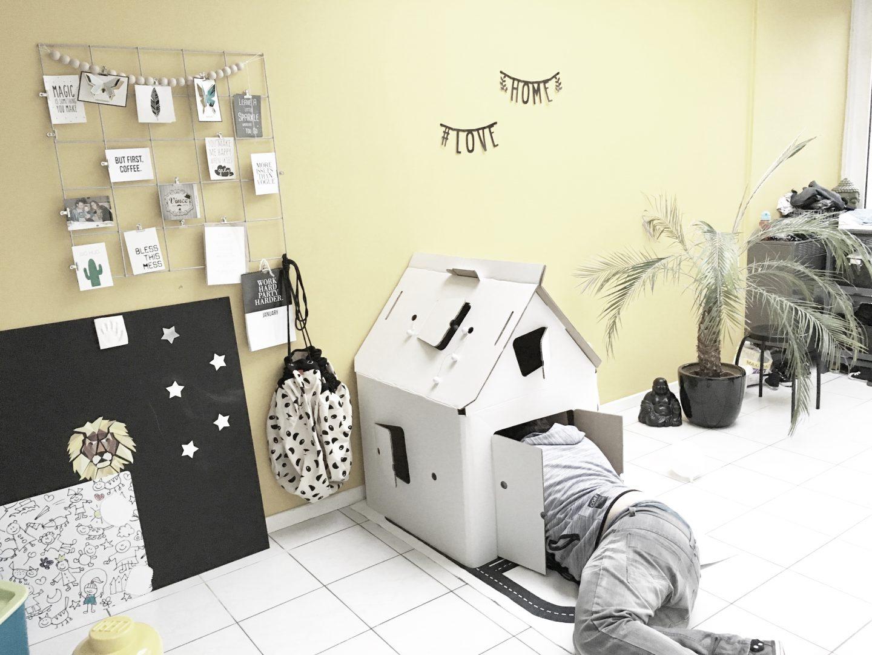 FullSizeRender 342 - Hide and seek with Casa Cabana cardboard house