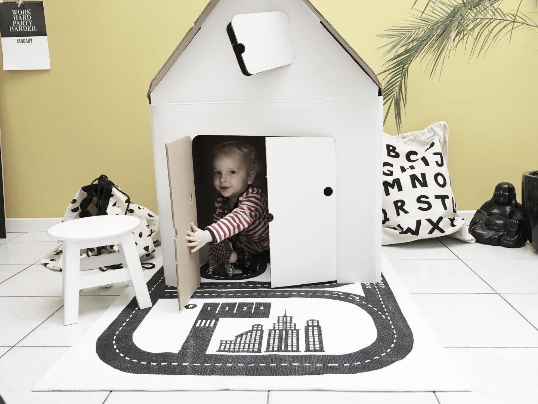 FullSizeRender 343 - Hide and seek with Casa Cabana cardboard house