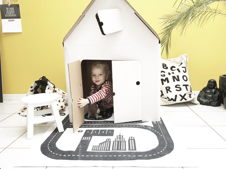 FullSizeRender 346 - Hide and seek with Casa Cabana cardboard house