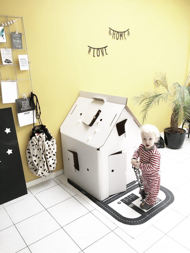 FullSizeRender 367 - Hide and seek with Casa Cabana cardboard house
