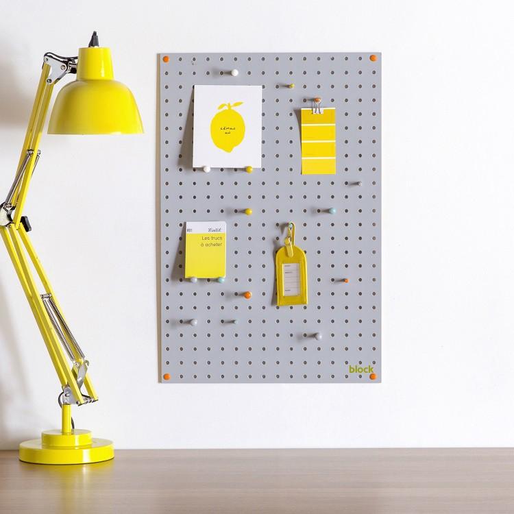 block design prikbord pegboard grey at sh 1 - PS Ik hou van jou & WIN