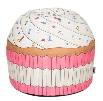 """woouf bean bag cupcake pink - Ga eens """"lekker"""" zitten met Woouf"""