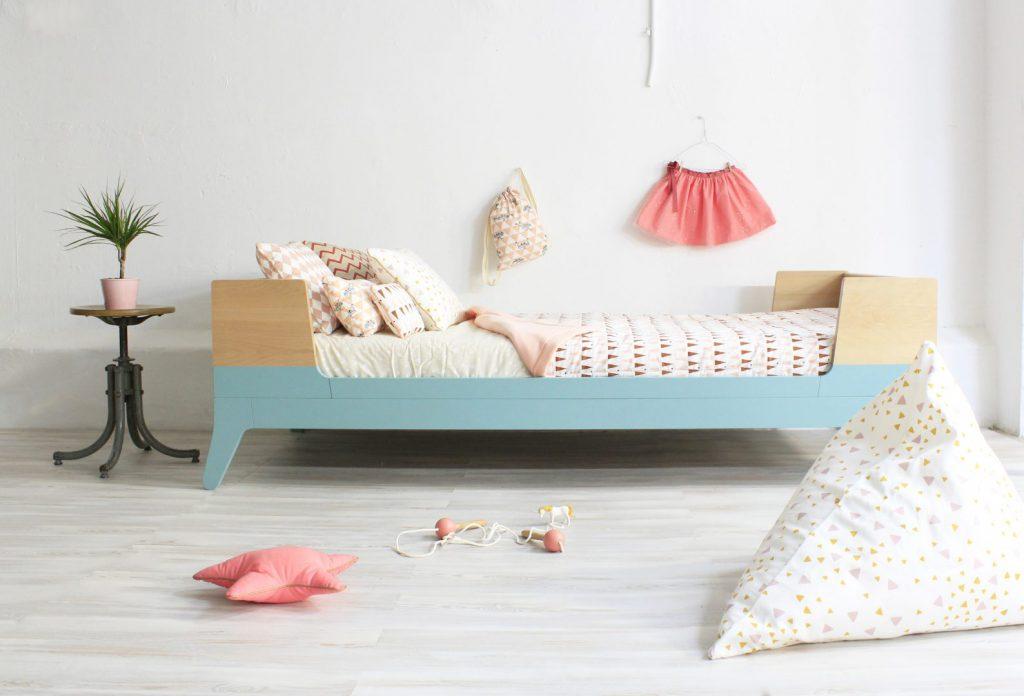 single bed green pink 2 1024x696 - De leukste peuterbedden / toddler beds