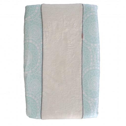 Aankleedkussenhoes mintgroen recht 510x510 - Prachtig beddengoed van Witlof for Kids