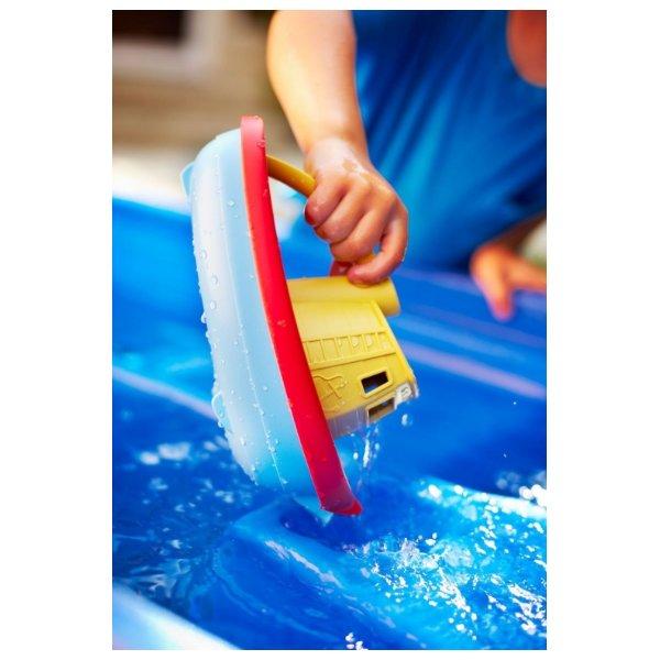 gele sleepboot - 5x leuk buitenspeelgoed + win