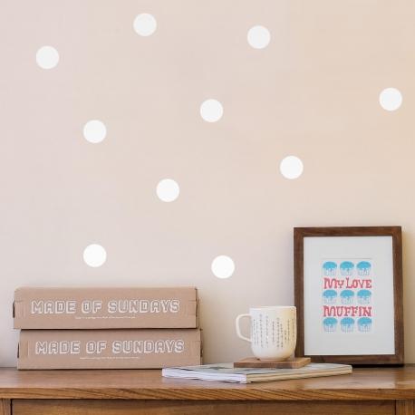 polka dots white - webshoptip|Em&Moi & win