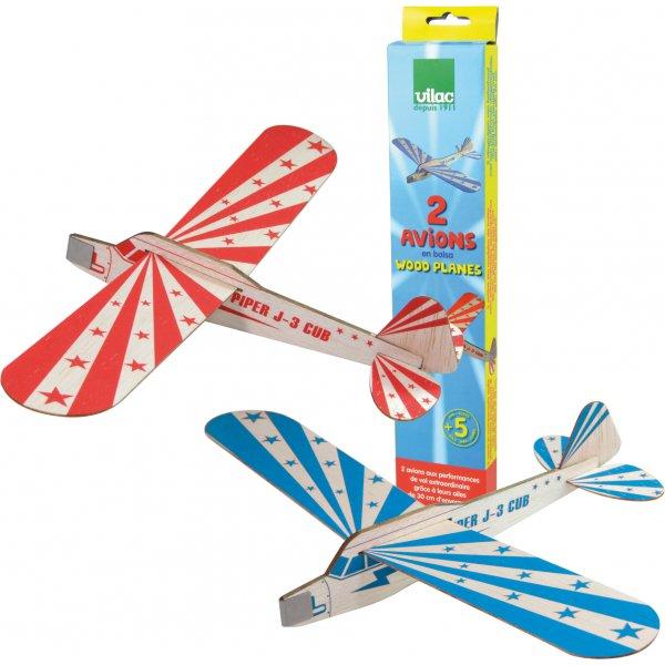 vilac zweefvliegtuigen 2 stuks - 5x leuk buitenspeelgoed + win