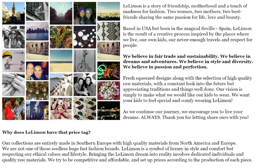 about us def - LeLimon collection