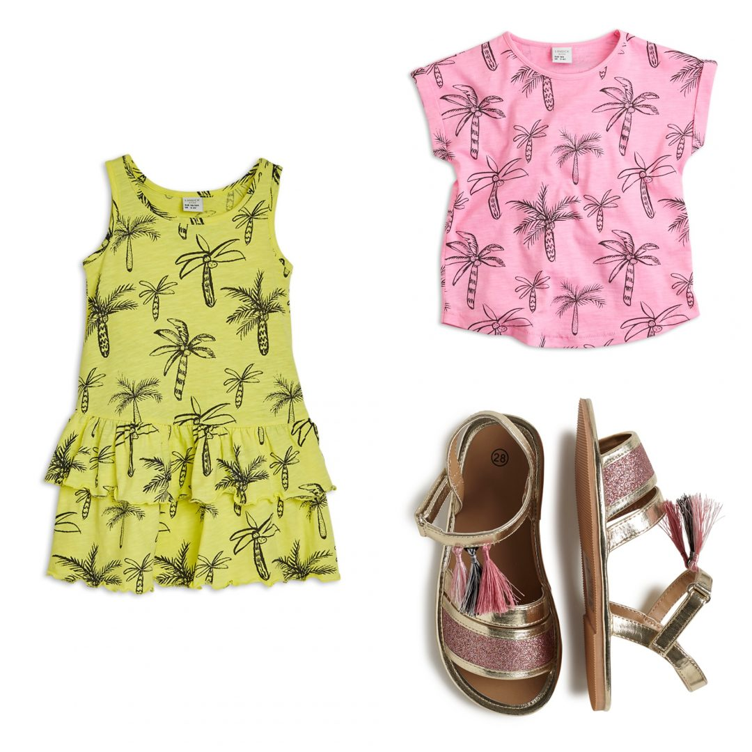 summer budget 3 - Summer Fashion with cactuses & palmtrees