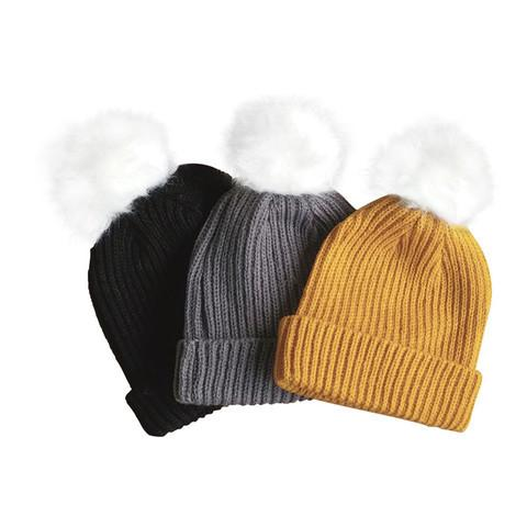 white pom beanie 1 grande - Webshoptip |  Monkeynmoo & win shopcredit