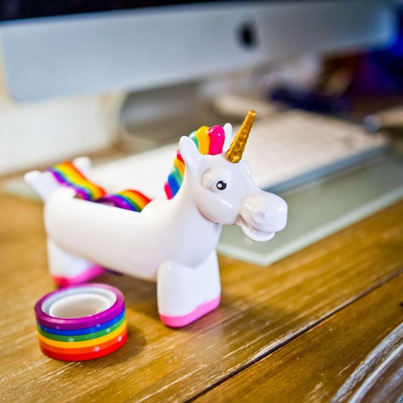 eenhoorn plakbandhouder 14d - De leukste unicorns gadgets