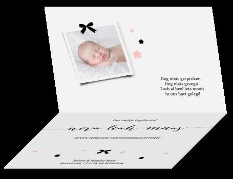 geboortekaartje meisje lief romantisch bloemetjes - Zwanger | Geboortekaartjes tips