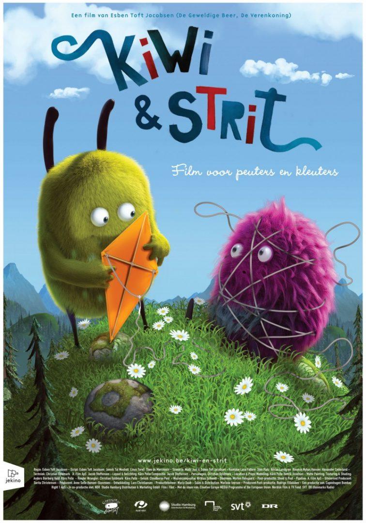 kiwiStrit poster - Nieuwe peuter -en kleuterfilm Kiwi & Strit + WIN