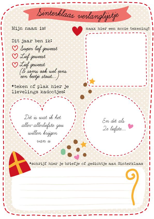Verlanglijstje Sinterklaas - 15 Leuke ideetjes om Sinterklaas te vieren