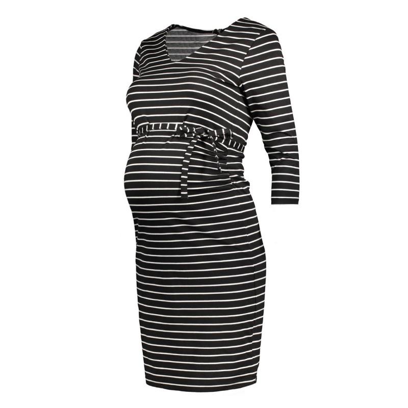 mlblackie 34 sleeve jersey dress str 20006933 mama licious positie jurk black - Black Friday! Ook bij Sans Online...