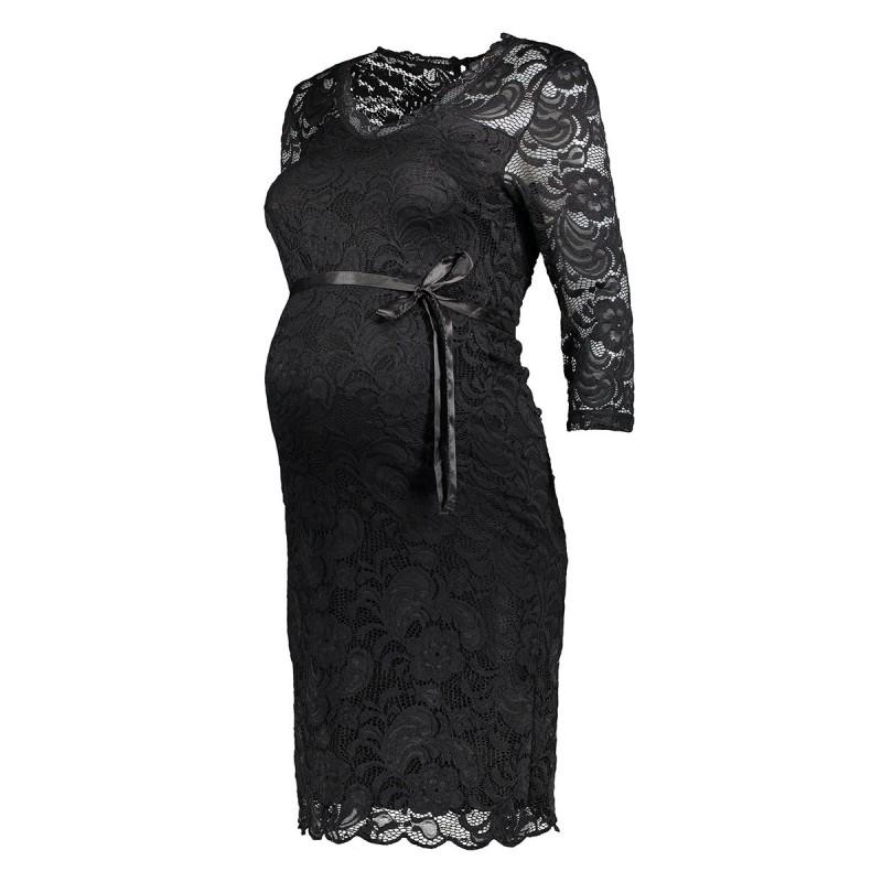 mlmivana 34 jersey dress 20007260 mama licious positie jurk black - Black Friday! Ook bij Sans Online...