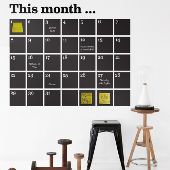kalender muursticker - Webshoptip | Decoraza