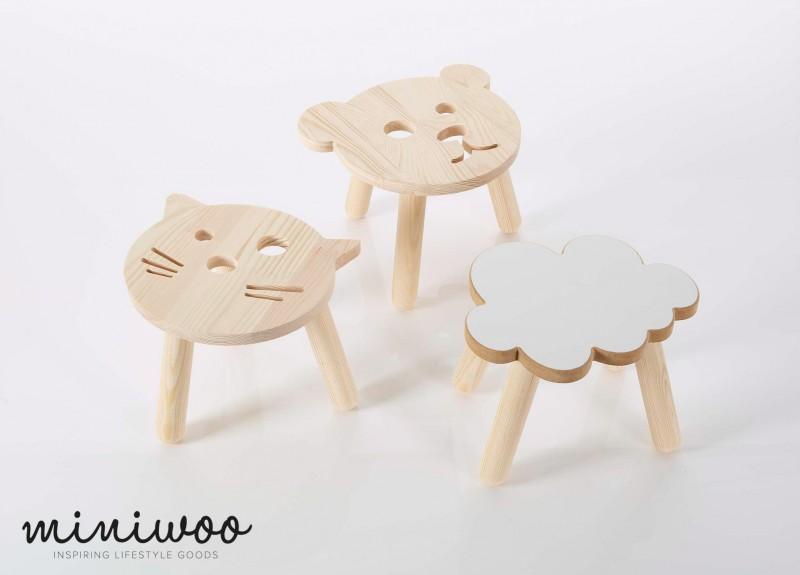 Miniwoo Set of 3 stools Low Res - Miniwoo, leuke houten kindermeubels