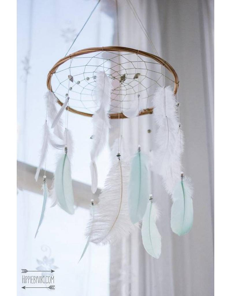 hippie by viki dreamcatcher in wit en mint 800x1024 - Webshoptip | Little Stars