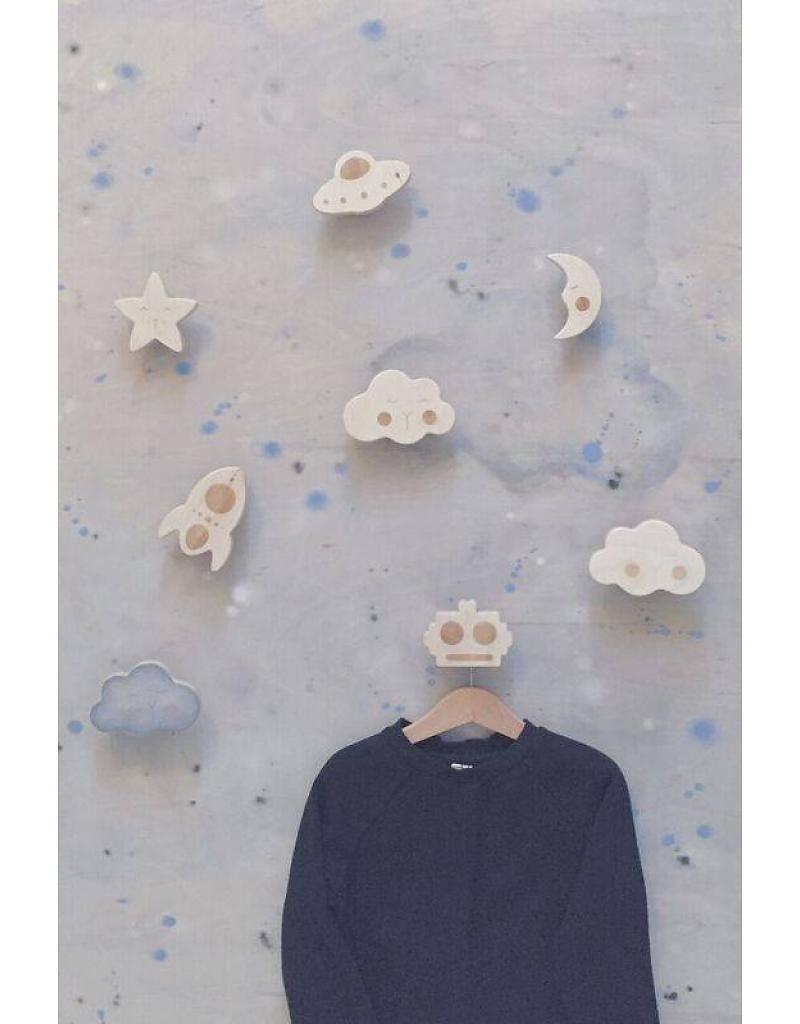 loullou houten wandhaakje wolkje 800x1024 - Webshoptip   Little Stars