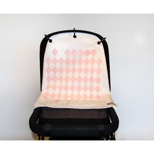 kurtis pram curtain harlequin pink 500x500 - Baby musthaves | PRAM CURTAINS & win