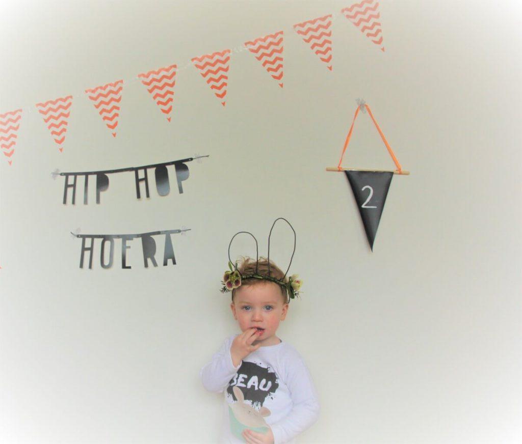 beaufoto 1 1024x872 - Birthday party van Beau, mét konijnenkroon