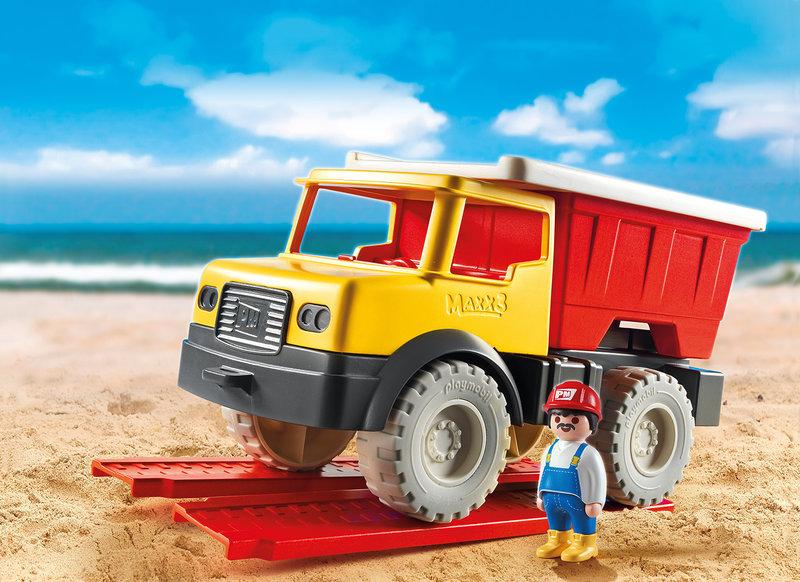 wl800hp600q85 PLAYMOBIL 9142 Dump Truck - Vince zijn lievelingsspeelgoed & win