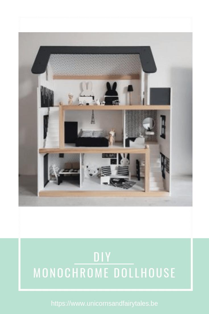 DIY monochrome dollhouse