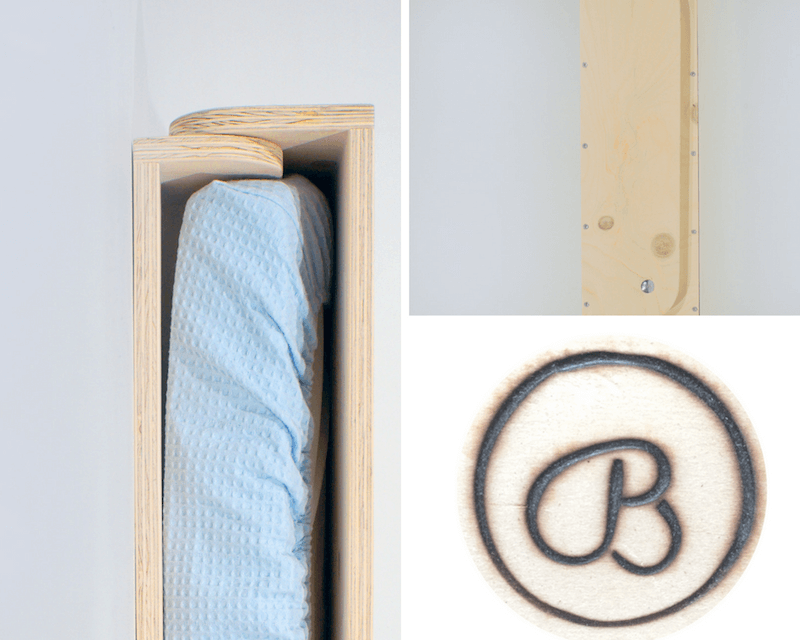 4 - Bespaar plaats in de babykamer met deze mooie wandcommode (+WIN)