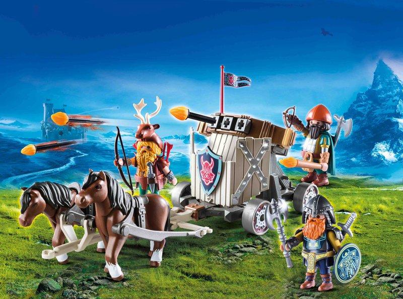 wl800hp600q85 PLAYMOBIL 9341 Horse Drawn Ballista - Win 3x een leuke Playmobil dwergen set