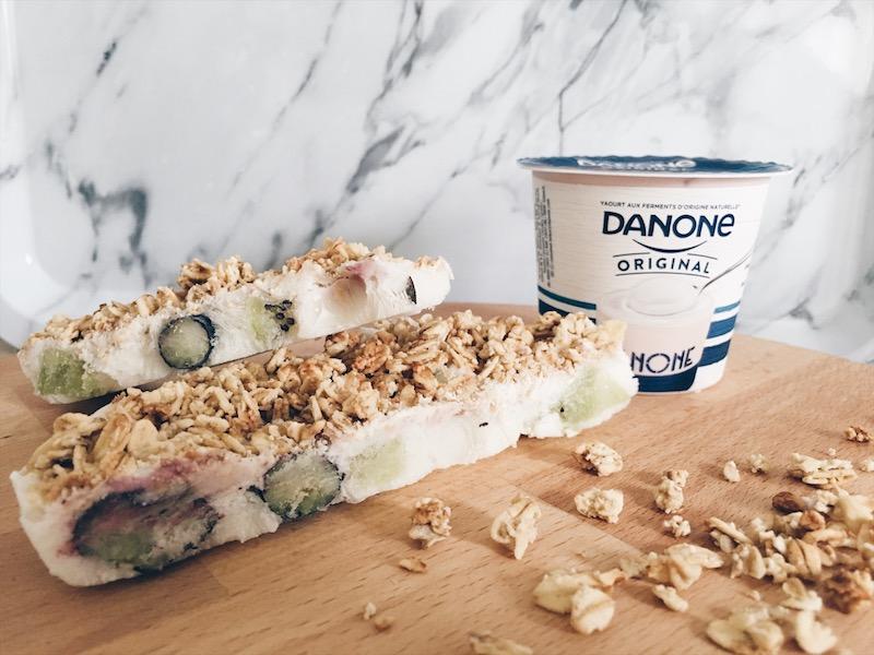 frozen yoghurt granola bar - unicorns & fairytales