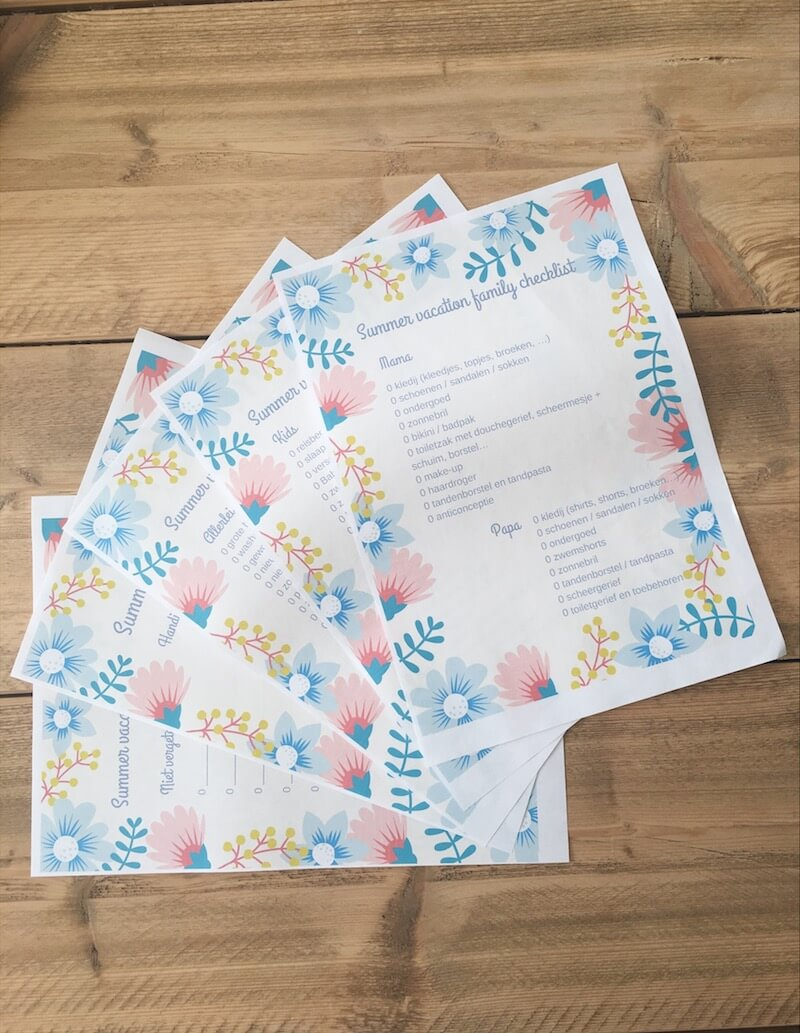 39D16B14 2146 414E 8994 9EF3CF1F332C - Wat neem jij mee op vakantie + handige free printable 'Summer vacation family checklist'