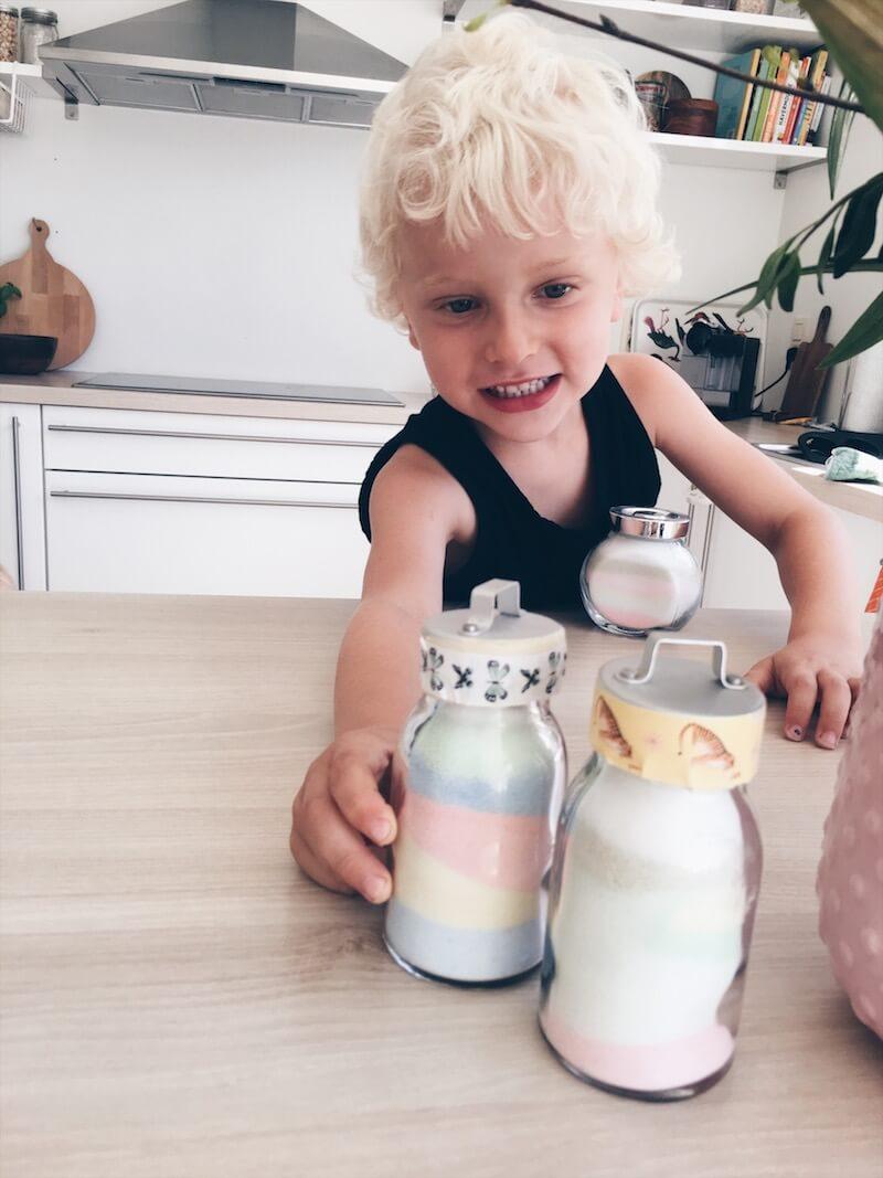 gekleurd zand maken - unicorns & fairytales