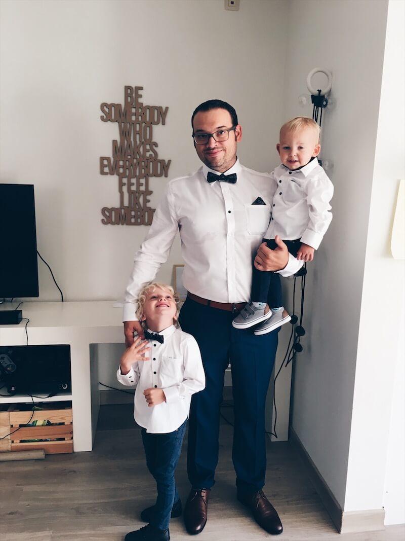 matching hemden voor vader en zoon - unicorns & fairytales
