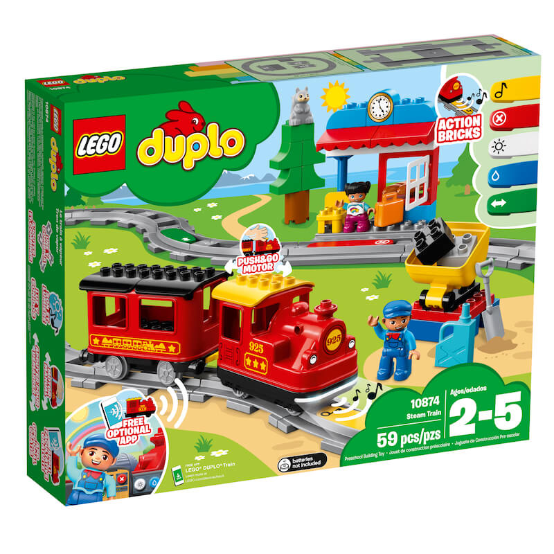 10874 Box1 v39 - Lego en Train World slaan de handen in elkaar & win de Duplo stoomtrein of Lego Passagierstrein