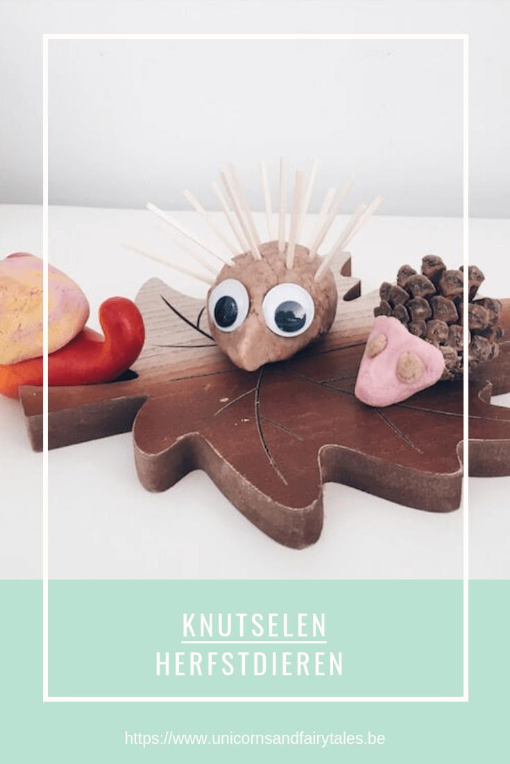 20x originele 19 - Herfstdiertjes maken met speeldeeg en anders frutsels