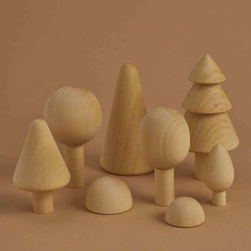 """Forest set natural 2 - Antroposofisch speelgoed enkel voor """"geitenwollensokken""""? No way!"""