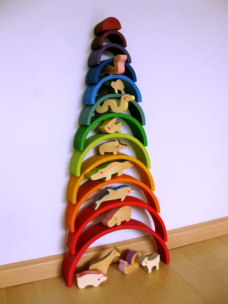 houten regenboog GRIMMS - unicorns & fairytales