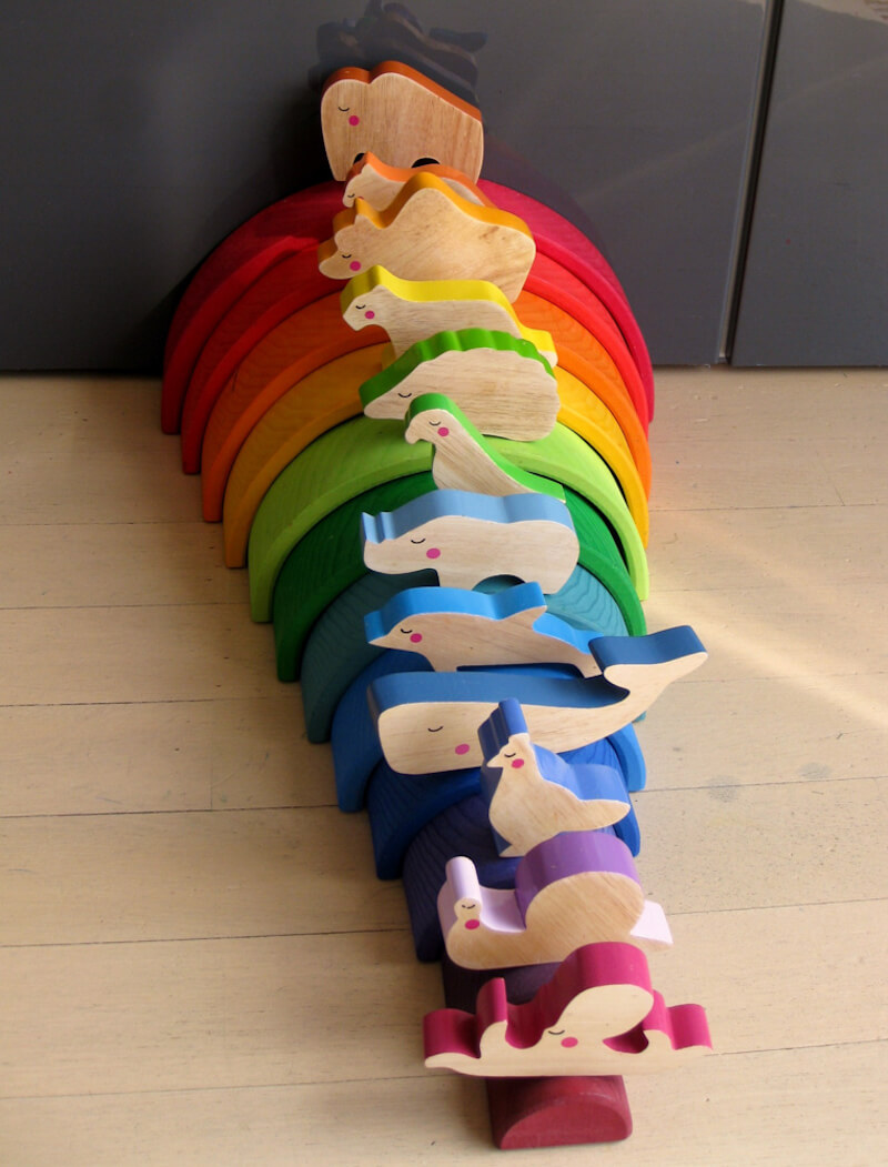Houten regenboog 7 - Leuke spelvormen met de houten regenboog van Bajo en Grimm's + WIN!