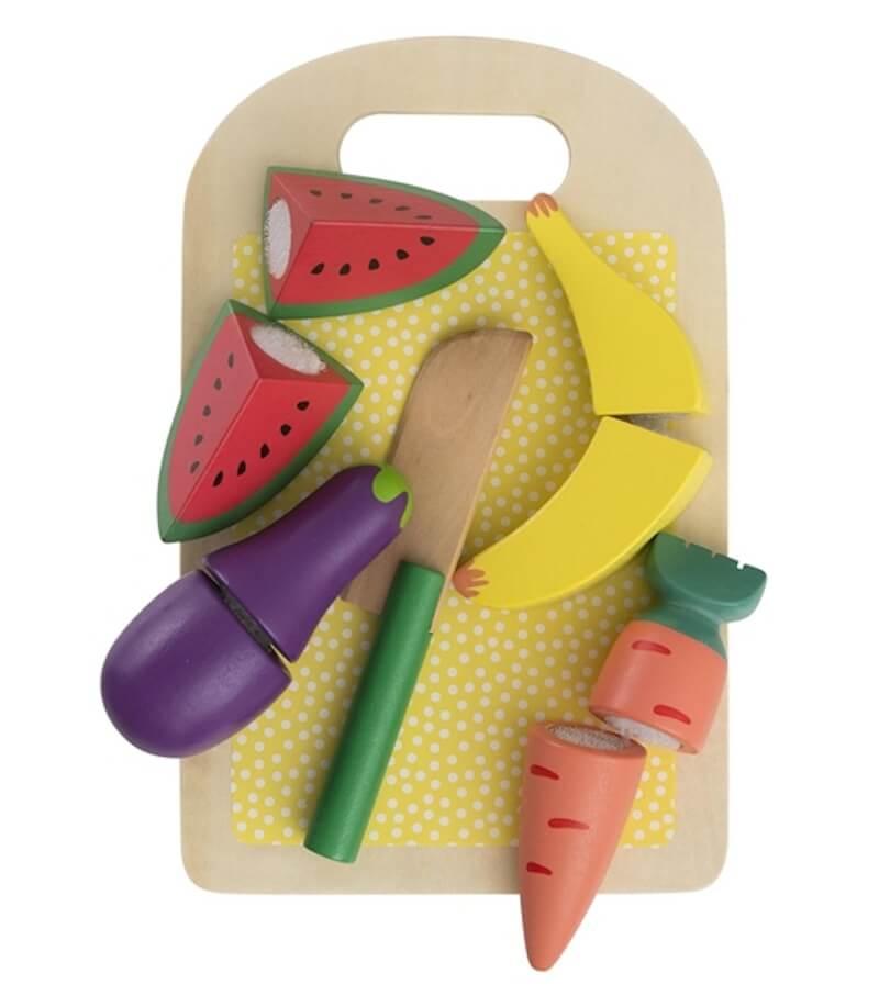 houten groente en fruit set 15110272 pdpmain - Budgetvriendelijk houten speelgoed van Hema, de toppers