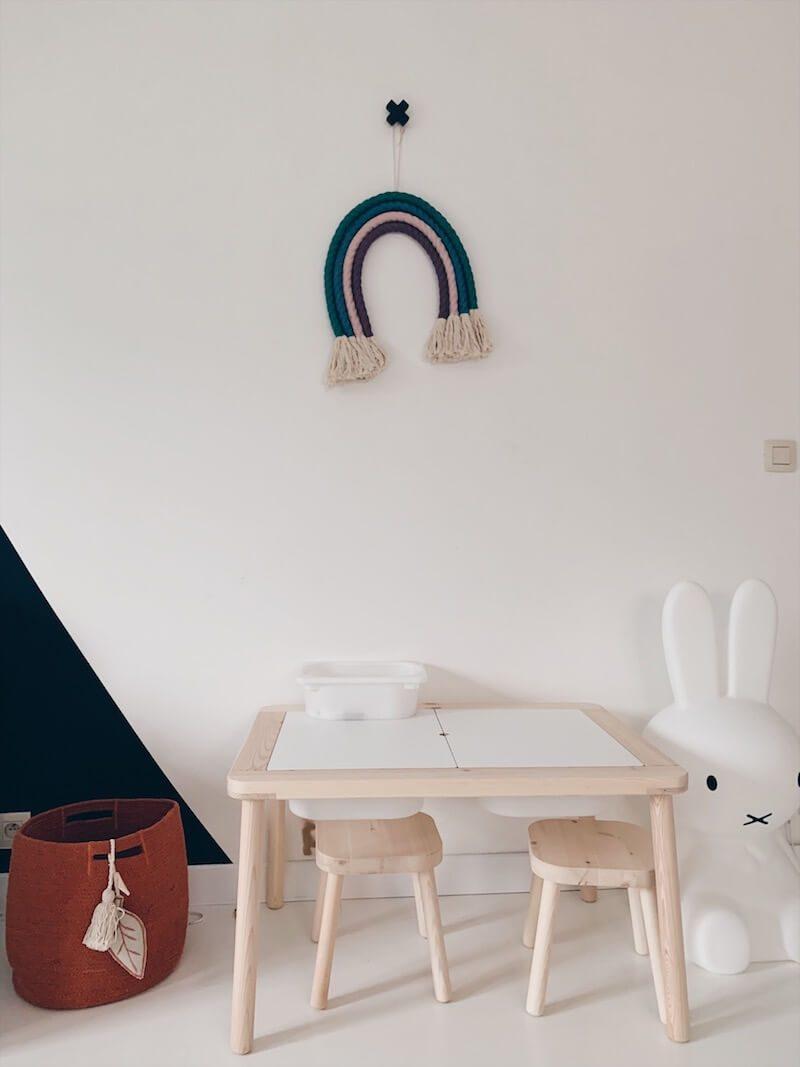 macramé regenboog wandhanger - unicorns & fairytales