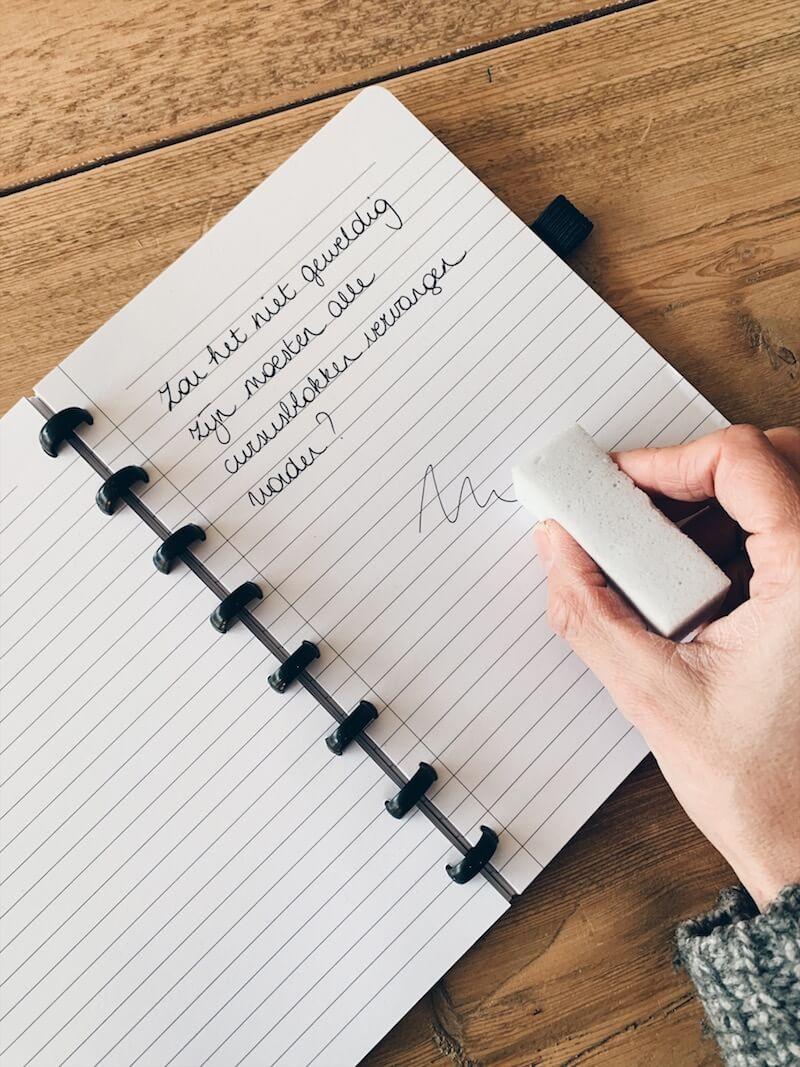 306A5BB7 3A3F 4580 B864 AFAA5F9E1536 - Duurzame musthave: een herbruikbare notitieschrift & WIN